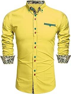 men's yellow casual shirts