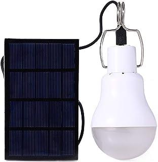 Staright Lâmpada solar LED alimentada por energia solar Lâmpada solar externa portátil recarregável para acampamento, pesc...