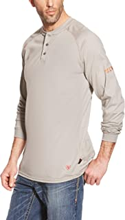 Men's Big and Tall Flame Resistant Work Henley Shirt