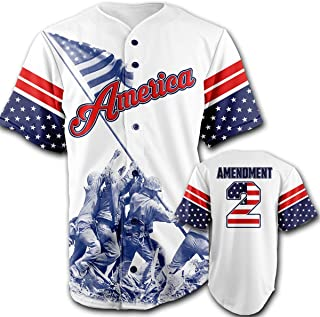 Greater Half Baseball Jersey (White) Custom 2nd Amendment Baseball Jersey (Small-XXXXL)