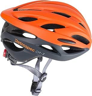 Retrospec by Westridge 3082 CM-3 Road Bike Helmet with LED Light Adjustable Dial, 24 vents