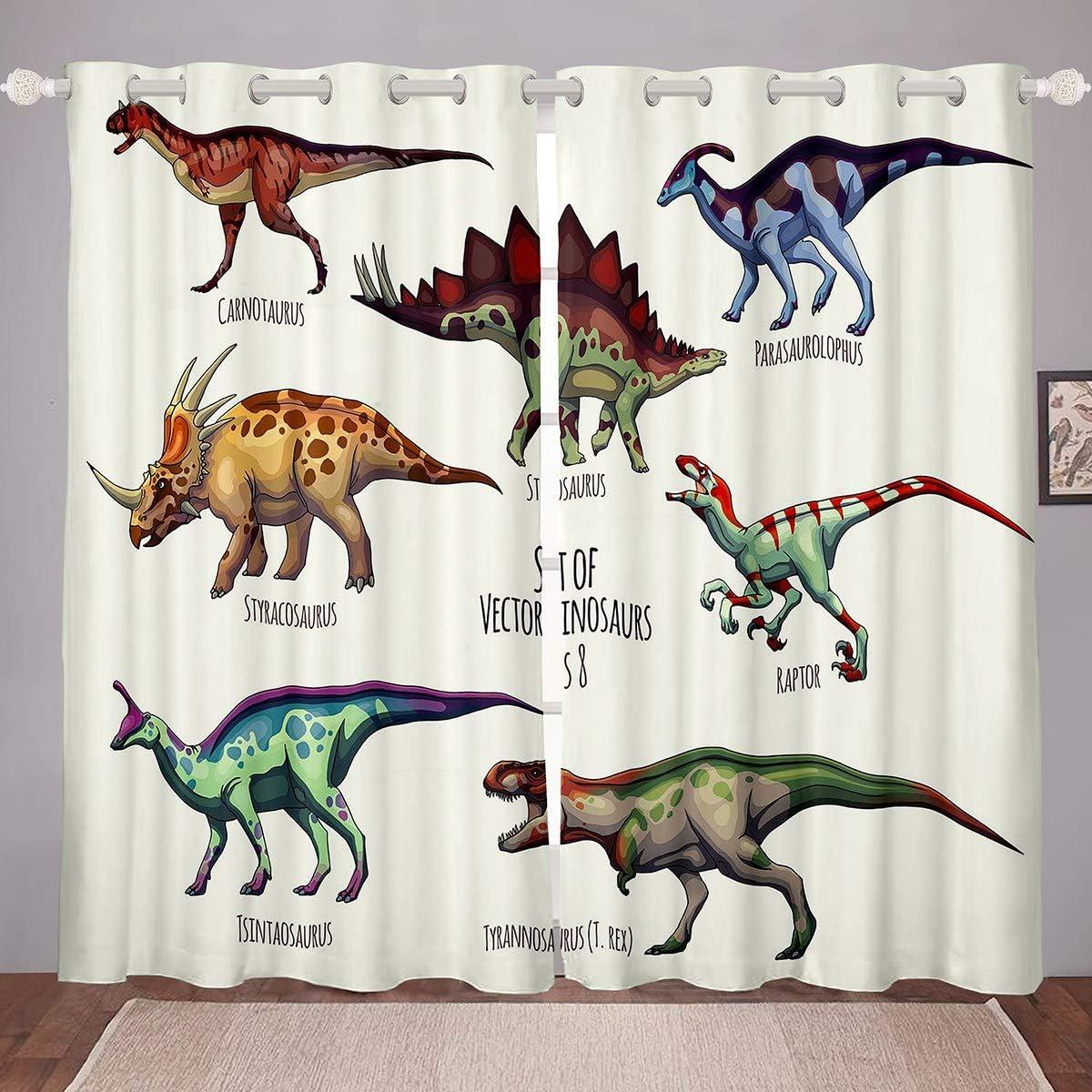 Feelyou Cartoon Dinosaur Over Selling item handling ☆ Curtains Livi Dino Bedroom for
