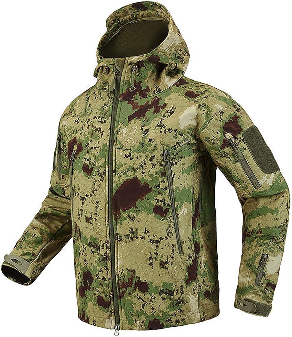 Veste de Camouflage Softshell Tactique Hommes Camo imperm/éable v/êtements de Chasse Vestes