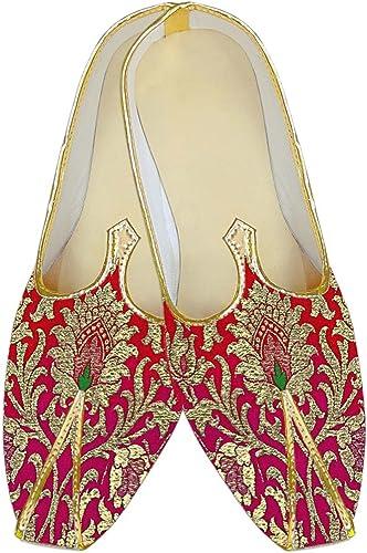 INMONARCH Herren schattigen Crimson Kheenkhap Hochzeit Schuhe MJ15372