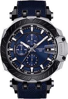ساعة تيسوت كرونوغراف بسوار اسود للرجال - T115.427.27.041.00