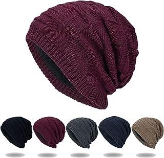 RANOGI للجنسين قبعة الشتاء النساء والرجال الجمجمة كاب مترهل قبعة قبعة متماسكة الجمجمة كاب بيني قبعة دافئة