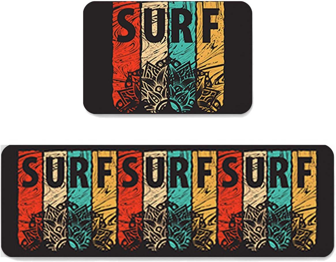 Infinidesign Color Surf Kitchen Washington Mall Rug Online limited product Sets Piece 2 Non Slip Fatig