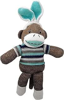 Dan Dee Collector's Choice Bunny Sock Monkey with Blue Bunny Ears
