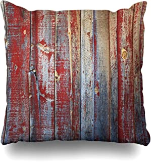 Ahawoso Throw Pillow Cover Square 20x20 Outside Brown Fence Rustic Old Wooden Wall Faded Red Wood Vintage Distressed Barn Color Siding Abstract Grain Pillowcase Home Decor Cushion Pillow Case