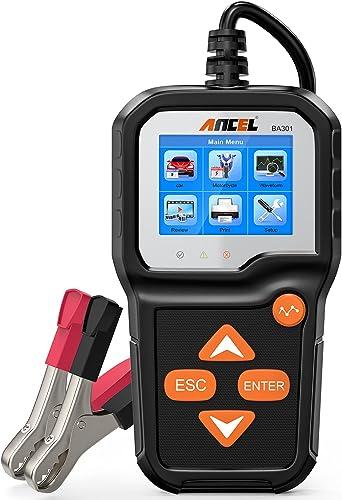 ANCEL BA301 6V 12V Probador de Carga de batería Analizador de alternador de automóvil Sistema de Carga de Arranque He...