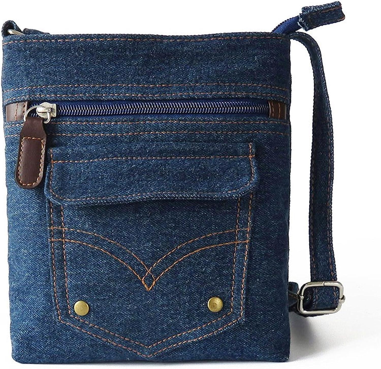 FTSUCQ Womens Denim Pocket Mini Totes Shoulder Messenger Bags Handbags Hobos Satchels