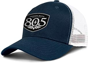 Dark_Blue 805-beer-logo- Men Women Mesh Ball Cap Adjustable Snapback Sun Hat