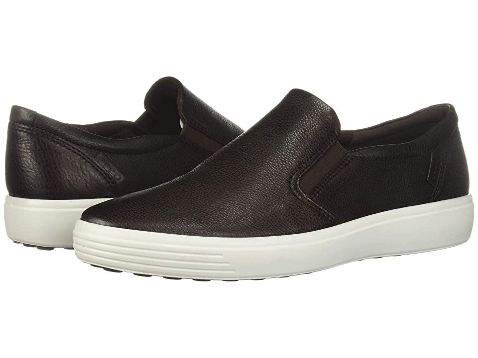ECCO Soft 7 Casual Loafer (Mocha Cow Leather) Men