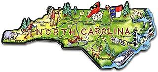 North Carolina the Tarheel State Artwood Jumbo Fridge Magnet