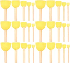 Stencils 4 Sizes Painting Timoo 60 Pcs Round Sponges Brush Set Kids Painting Tools for Arts and Crafts