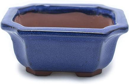 """Bonsai Tree Pot Glazed (5"""") (Ocean Blue)"""