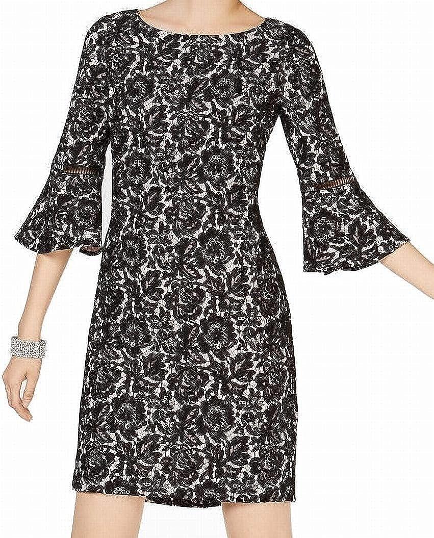 JESSICA HOWARD Women's Bell-sleeve Lace Sheath Dress