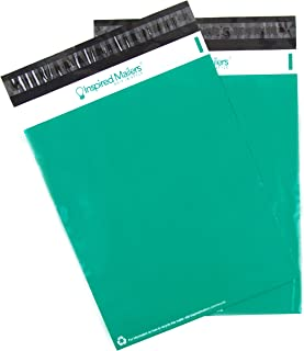Inspired Mailers - Emerald Poly Mailers 10x13-100 Pack - Choose from Many Size and Color Options - 3.15mil Unpadded Shipping Envelopes (10x13, 100 Pack)