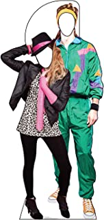 Advanced Graphics 80's Couple Stand-in Life Size Cardboard Cutout Standup