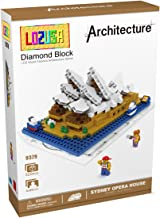 LOZUSA Sydney Opera House 520 PCS Diamond Block Micro Blocks Architecture Construction Model, Micro-Sized Building Set Par...