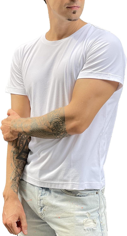 FLEXUGAR Men's Premium Crew Neck Max 89% OFF Spring new work Short S - Casual T-Shirt Sleeve