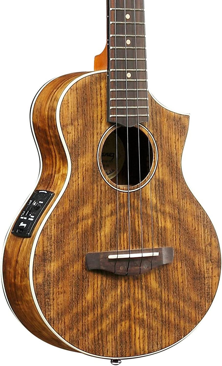 Ibanez 4-String Ukulele Max 83% OFF Right New Shipping Free UEWT14E Natural Pore Open