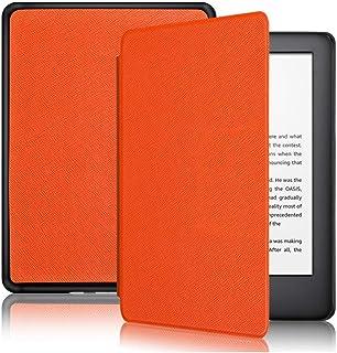 Capa Kindle 10ª geração com iluminação embutida – Função Liga/Desliga - Fechamento magnético - Cores (Laranja)