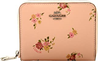 Small Zip Around Wallet With Daisy Bundle Print and Bow Zip Pull