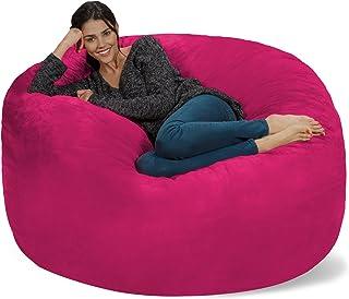 Admirable Amazon Com Pink Bean Bags Game Recreation Room Uwap Interior Chair Design Uwaporg