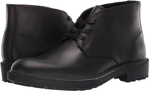 Black Vintage Pull Up Leather