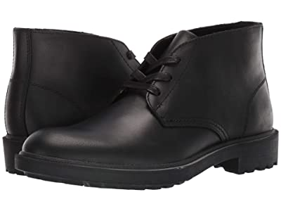 FRYE AND CO. Jackson Chukka (Black Vintage Pull Up Leather) Men