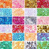 NBEADS 2 Cajas 12 Colores Surtidos Star Glitter Confetti Lentejuelas Resina Cabochon Chips para Nail Face Body Crafts Decoración DIY, 1.7-3.7mm