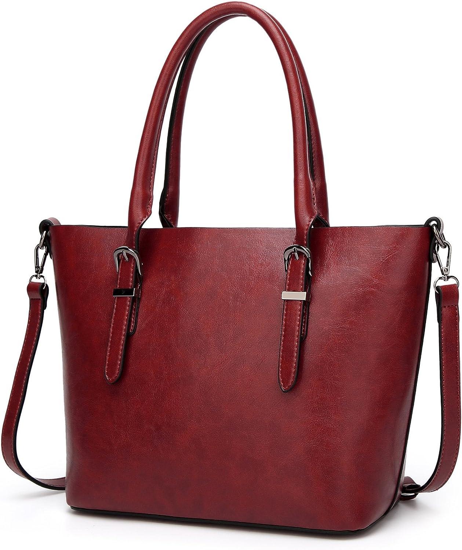 CARQI Women Handbags Leather Satchel Purse for Teen Girls Shoulder Crossbody Bags