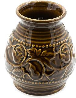 Sponsored Ad - Ceramic Yerba Mate Gourd With Emboss Calabash Pattern (Brown)