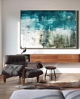 Peinture À L'Huile Peinte À La Main Sur Toile,100% Peint À La Main Moderne Minimaliste Abstraction Paysage Peinture À La M...