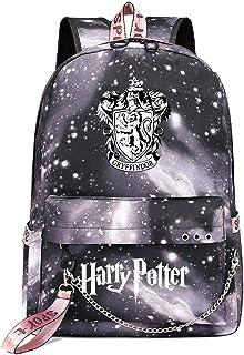 Mochila de Ocio para Estudiantes de Hogwarts, Mochila Harry Potter Grey Starry Sky, con Mochila de Interfaz de Carga USB style-15