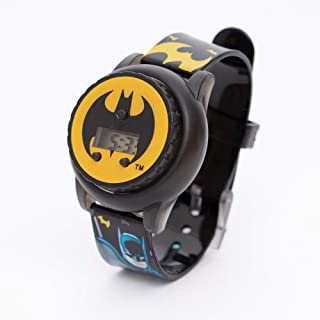 Warner Bros. Batman Boys Digital Dial with Rotating Spinner Head Flashing Light Wristwatch - SA8058 Batman