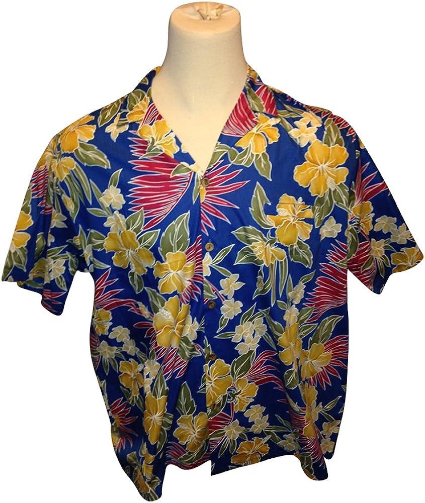 Barefoot Paradise Big and Tall USA Made Hawaiian Casual All Cotton Button Down Shirts