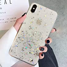 Topwin iPhone Xr Bling Case, Glitter Sparkle TPU Shockproof Soft Bumper Protective Case Compatible with Apple iPhone Xr (White)