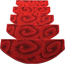 JIAJUAN Soft Stair Carpet Treads Self-Sticking Non Skid Stairs Floor Pad Simple, 4 Colors, 4 Sizes (Color : A-5 pcs, Size ...