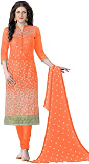 Panash Trends Women's Pure Cotton Embroidery Salwar Suit