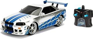 Jada Toys Fast & Furious Brian's Nissan Skyline GT-R (Bnr34)- Ready to Run R/C Radio Control Toy Vehicle, 1: 16 Scale