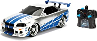 JADA Toys Fast & Furious Brian's Nissan Skyline GT-R (Bnr34)- Ready to Run R/C Radio Control Toy Vehicle, 1: 16 Scale