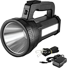 3-in 1 Powerful Rechargeable LED Torch Flashlight, 9600 mAh 1000 Lumens Side Lantern Light for Outdoor Camping Hiking, IPX...