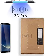 Galaxy S8 Screen Protector [Shellrus 3D Pro] Full Glue 3D Curved Edge Tempered Glass Screen Protector [UV Cure JellyGlue] DIY Kit for Samsung Galaxy S8, Fix Scratches