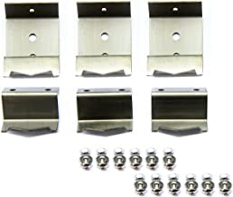 Hongso Stainless Steel Heat Plate Brackets & Burner Hanger Brackets Replacement (Mounting Screws Included) for Chargriller 5650, Chargriller 5050 Duo, Chargriller 3001 (Set of 6)