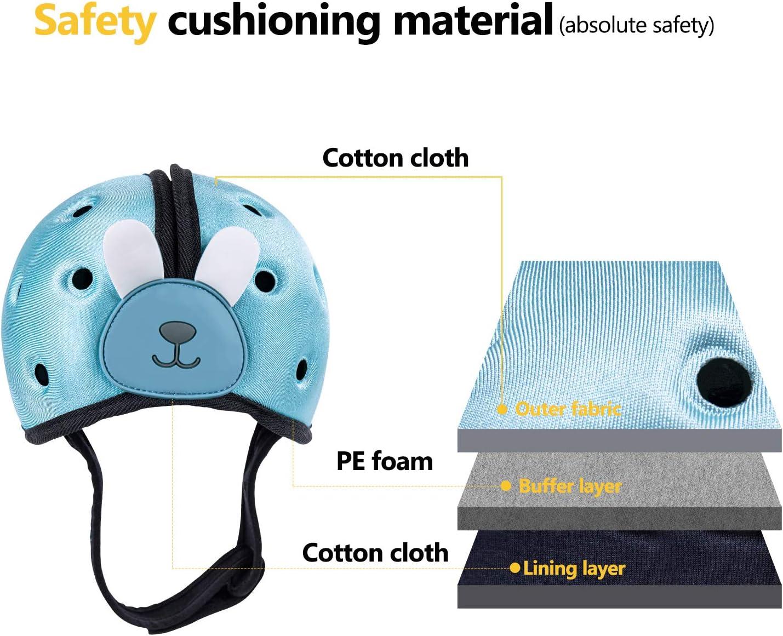 Orzbow Casco de protecci/ón para beb/é gorra seguridad para cabeza de beb/é para infantil,ni/ña,ni/ño Casco Seguridad para los ni/ños beb/é ajustable azul