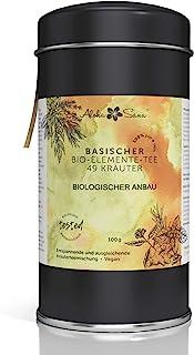 Aloha Sana | Basentee Bio aus 49 Kräutern lose | 100g Kräutertee in luftdichter Aromadose | Energetisch getestete Teemischung | Brennnessel, Brombeerblätter, Fenchel, Salbei, Süßholzwurzl und mehr