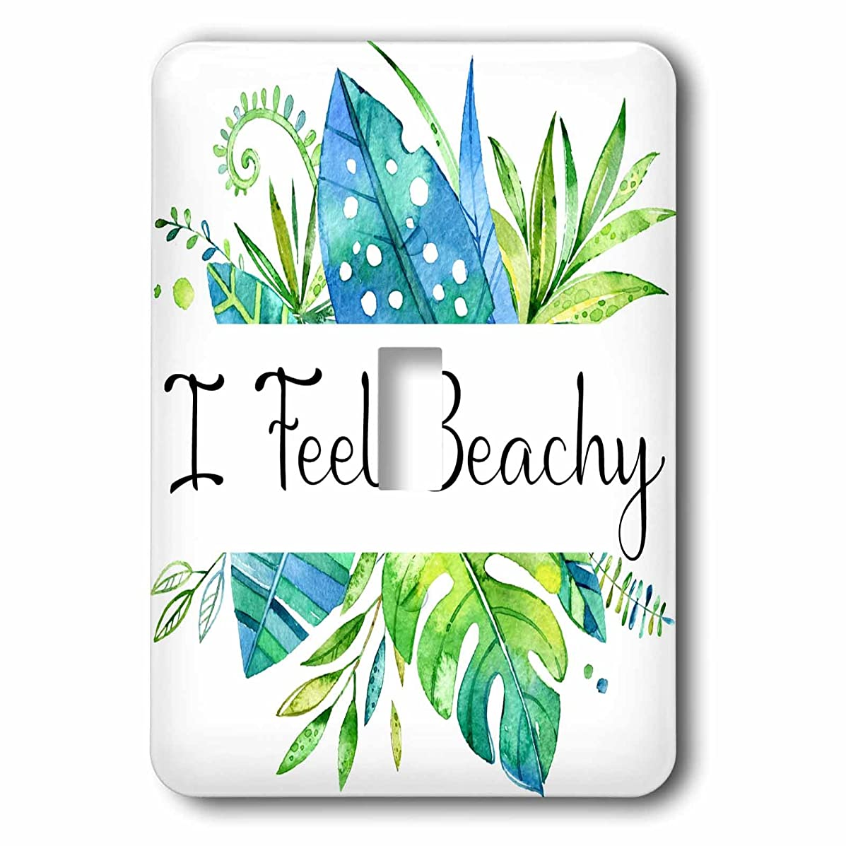 3dRose lsp_267814_1 I Feel Beachy, Watercolor Tropical Leaves Design Toggle Switch Mixed