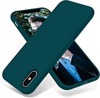 OTOFLY Liquid Silicone Gel Rubber Full Body Protection Shockproof Case for iPhone Xs/iPhone X,Anti-Scratch&Fingerprint Basic-Cases,Compatible with iPhone X/iPhone Xs 5.8 inch (2018), (Teal)